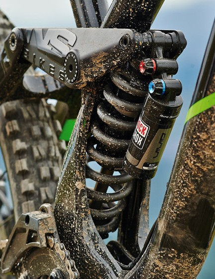 RockShox takes care of bump-eating duties with a Boxxer RC fork and Vivid R2C shock