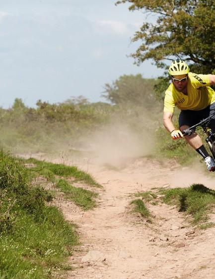 The Merida's light weight and superb stop-go kit make it an effortless devourer of trails