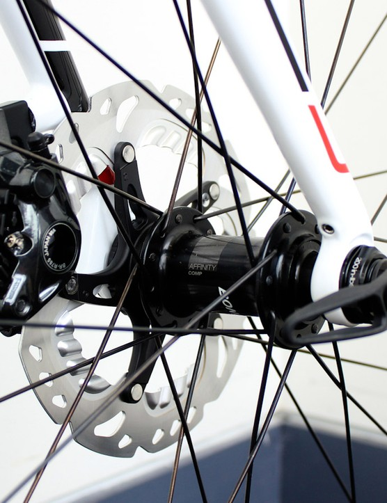We're pleased to see that Trek has retained the Domane's hidden mudguard mounts - that's the grub screw above the dropout