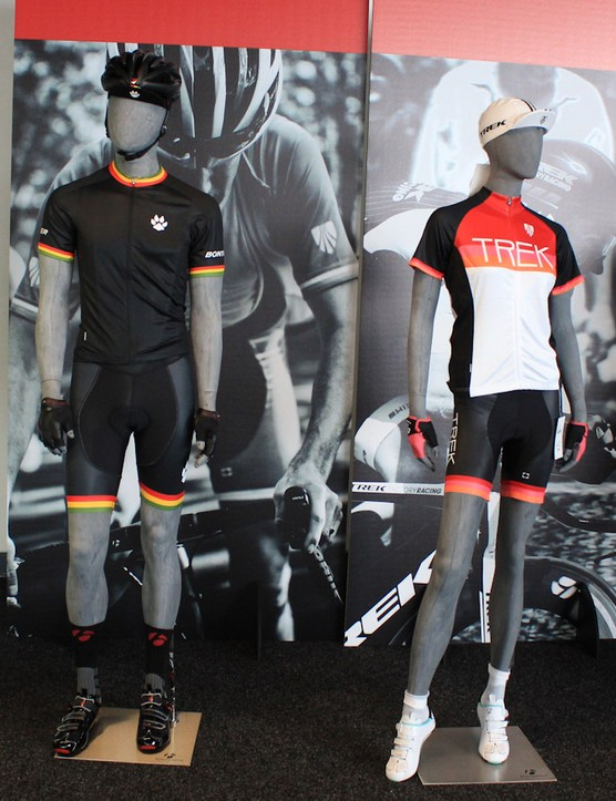 Your high-vis can be head-to-toe now. Bontrager is now also offering these tasteful pseudo-retro kits