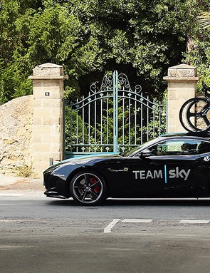 The Team Sky F-Type even looks fast while parked