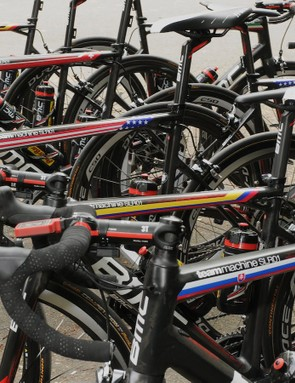 BMC's race bike designs show the diverse nationalities of the team riders