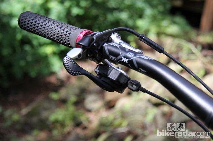 Some riders have repurposed front shift levers for cable-actuated droppers
