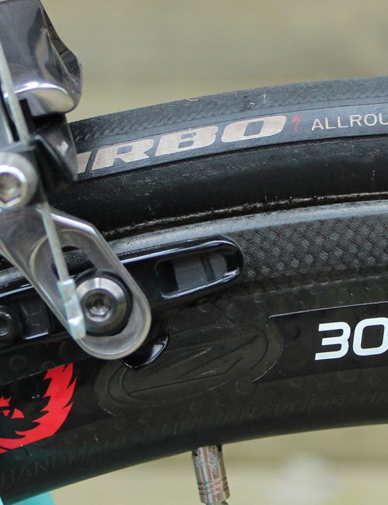 Specialized has two types of tubulars at the Tour, these All Round for most stages and a version for the cobbled stage 5 with FMB cotton casings