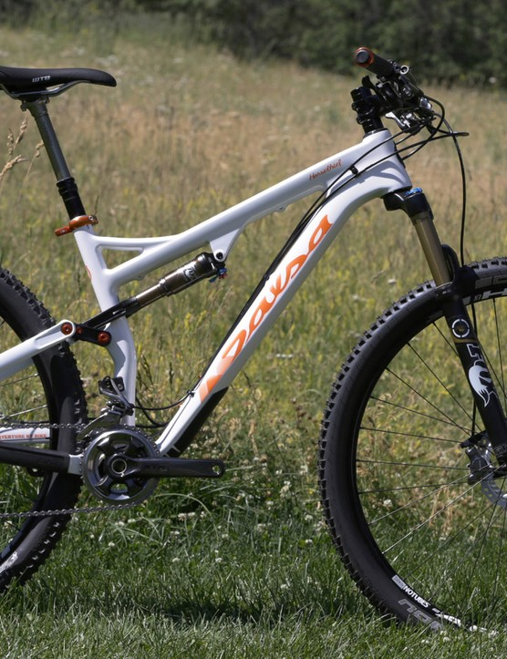 The carbon Horsethief has 120mm of front and rear suspension