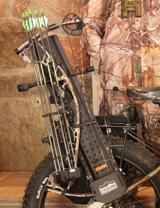 Cogburn's new gear carrier is designed to carry rifles, bows and fishing poles