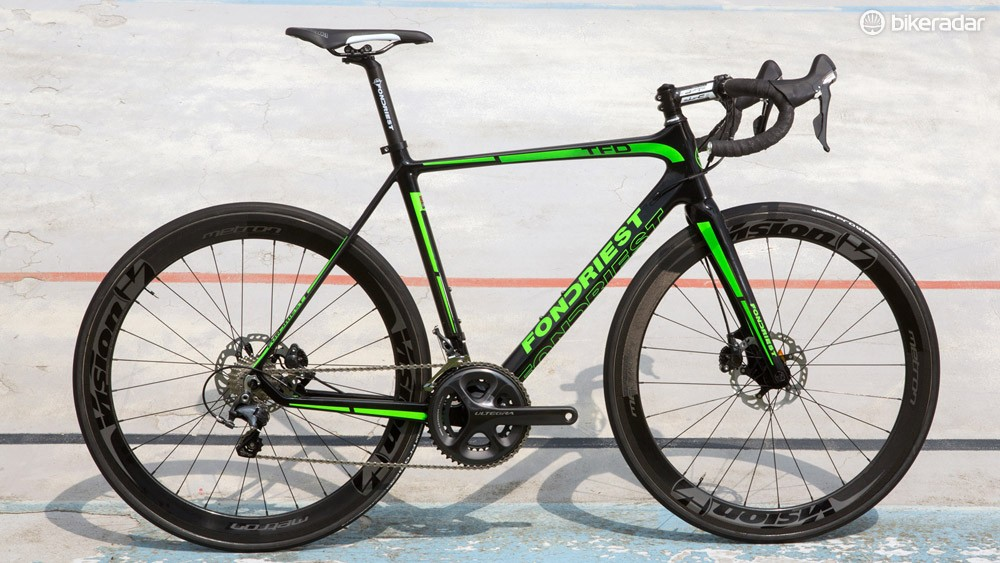 The new Fondriest TFD, complete with hydraulic disc brakes