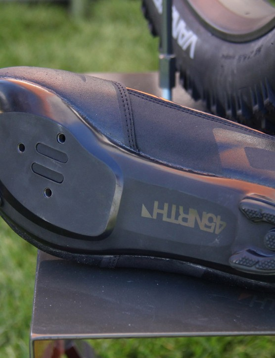 The upper is the same used on the mountain version; the lower uses a nylon sole with both two- and three-bolt patterns