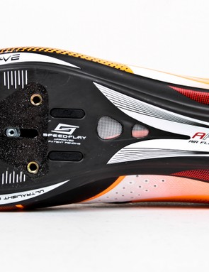 The Extreme Tech Plus accommodate three-bolt cleat systems as well as the four-bolt Speedplay setup (via an adaptor)