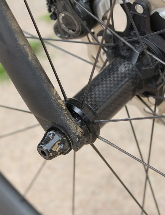 Specialized engineers opted to keep quick releases on the Tarmac Disc