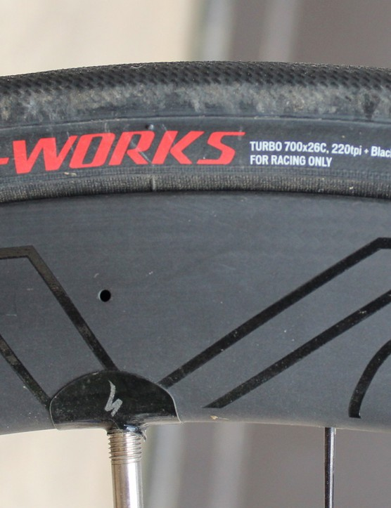 We are fans of the latest S-Works road tires. This Turbo is 26mm