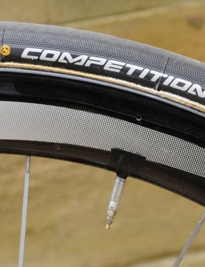 Continental Competition Pro Ltd 25mm tubulars are a popular choice across the peloton