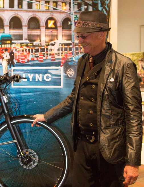The legend himself, Gary Fisher, checks out the new Trek Lync