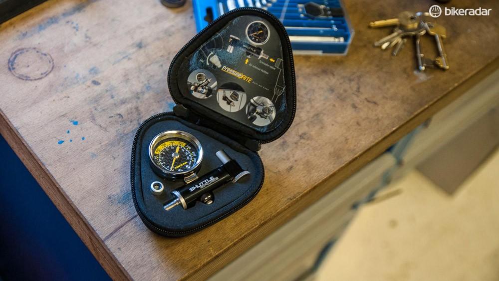Topeak Shuttle pressure gauge