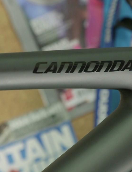 The carbon frame has a matt black finish