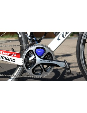 Alison Powers' (UnitedHealthcare) Wilier Cento 1 SR is equipped with a Pioneer power meter