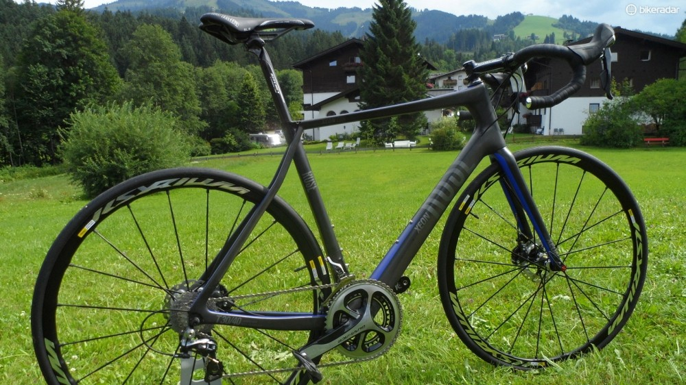 The all-new carbon disc road bike the Xeon CDX uses a 15mm thru-axle on the front and a 10mm (or standard qr) thru-axle at the rear