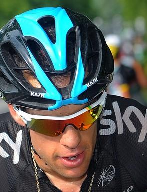 Richie Porte in the Oakley limited edition Tour de France Radarlock glasses