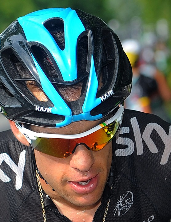 Richie Porte in the Oakley limited edition Tour de France Radarlock glasses