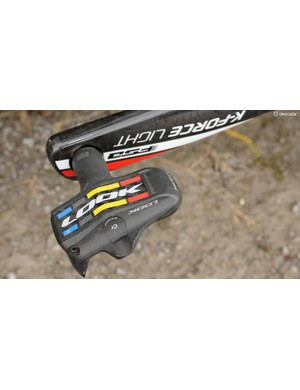 Delaplace uses Look Keo Blade 2 pedals, with the 16Nm release tension and basic Cromoly axle