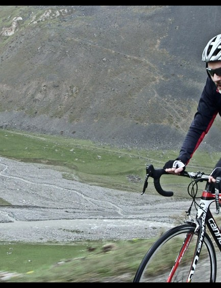 The scenery on the climb to Galibier is stunning to say the least