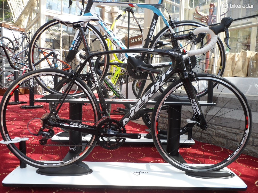 The Sora-kitted Poggio 1.6, Mekk's bottom-end carbon offering, offers plenty of scope for upgrading as your wallet allows