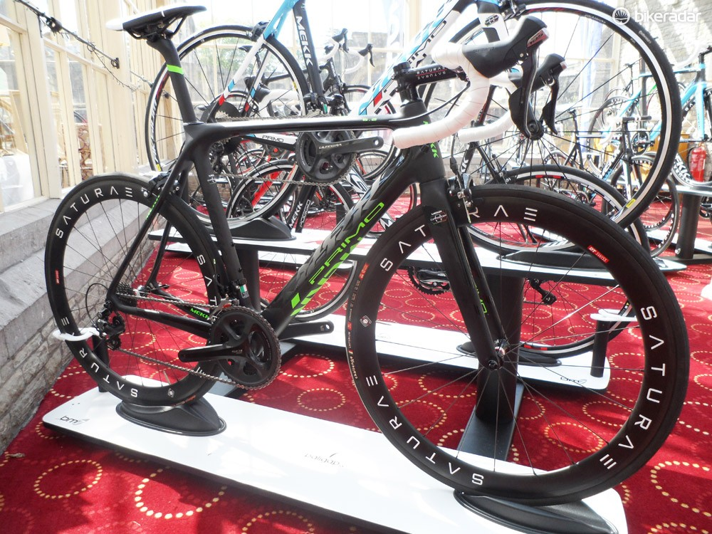 The Primo 6.2, with Saturae aero carbon clinchers – we'll hopefully be getting our mitts on one of these soon