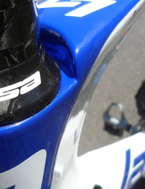 The headset and stem (providing you slam it) are semi-integrated into the top tube/head tube junction