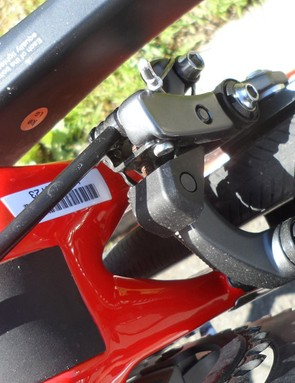 …whereas we get a more-aero under chainstay direct mount brake