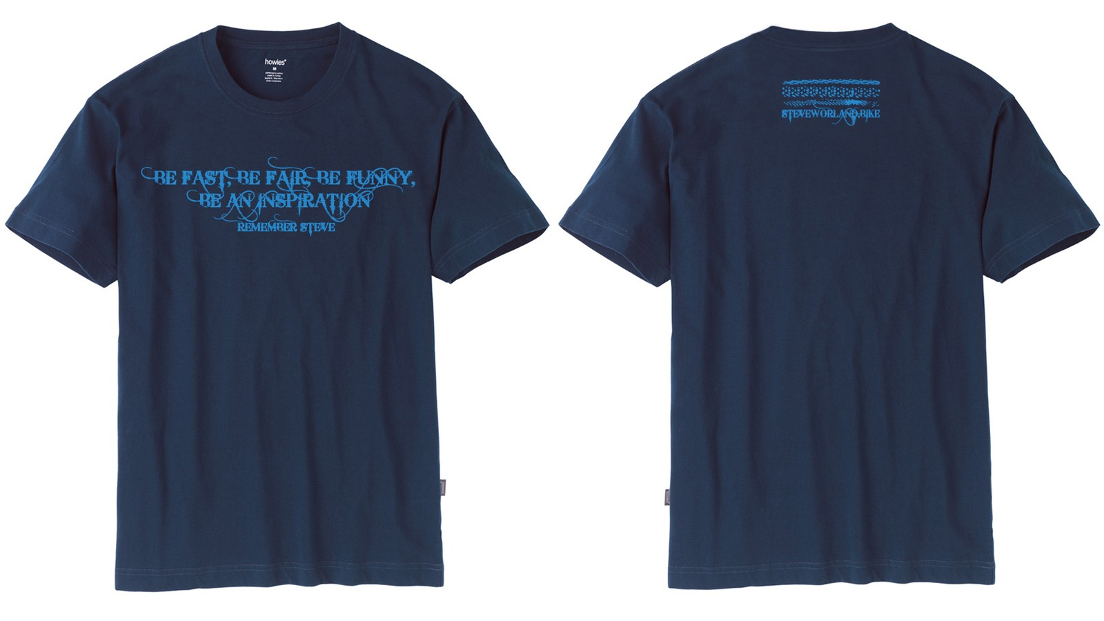 The new Howies T-shirt will help raise money for the Steve Worland Memorial Fund