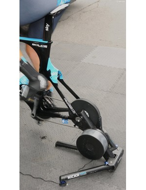 Direct drive turbo trainers have caught on amongst many of the World Tour teams. Sky use the Wahoo Fitness Kickr