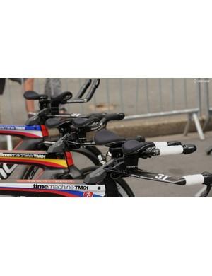 Three bikes, three flags, three very unique setups