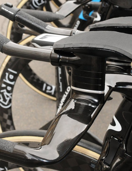 The ultra clean lines of the Bolide's cockpit are at odds with the hand cut rubber used for the arm rests