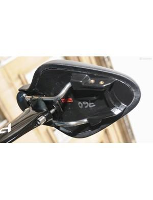 Richie Porte was using a prototype Fizik TT saddle on both of his TT race bikes