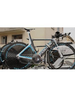 Christophe Riblon's spare bike was last year's Focus Chrono
