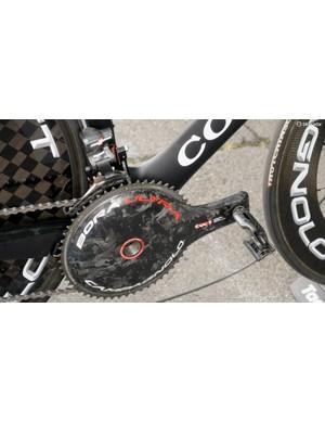 But it does feature Campagnolo's fantastic Bora Ultra carbon TT crank