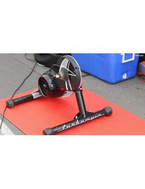 Elite's Turbo Muin direct drive turbo trainer is FDJ's warm up tool