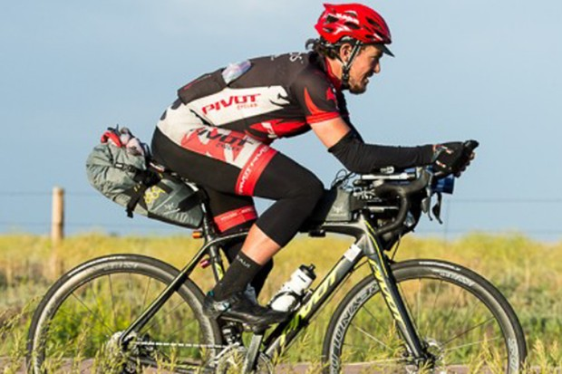Mike Hall won the TransAm bike race after 18 days on the road