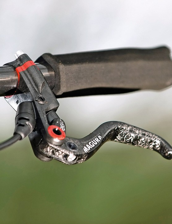 Magura MT8 brakes are lightweight but lack feel