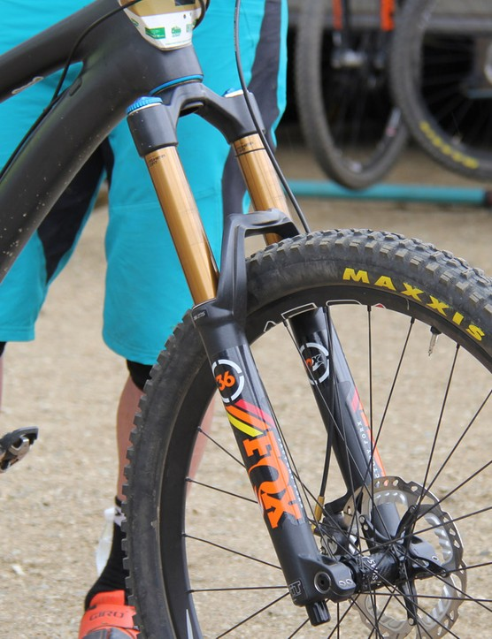 Graves is running a Fox 36 RC2 fork with 160mm of travel