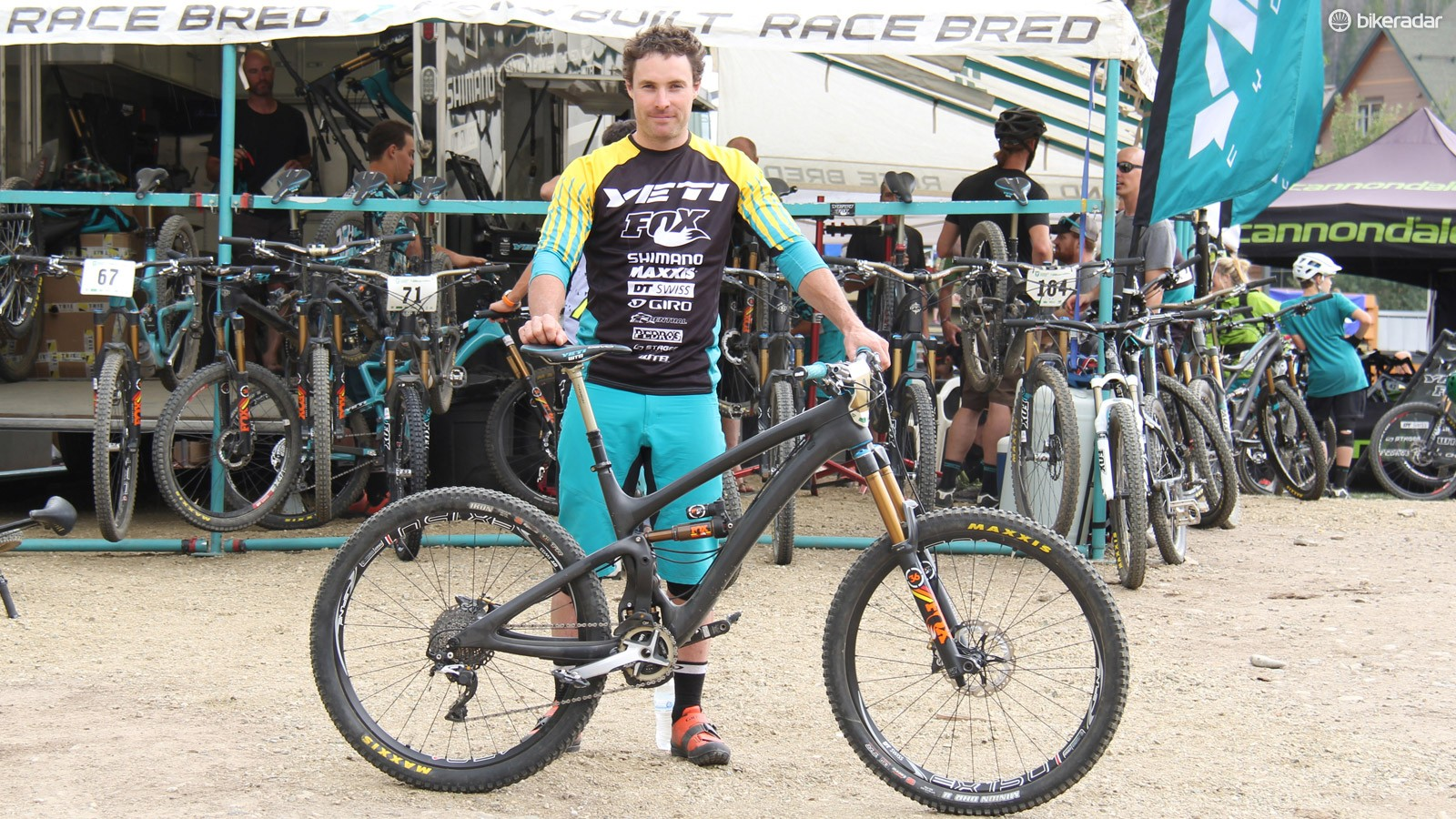 Jared Graves won four of the seven stages to secure the overall victory at the fifth stop at this year's Enduro World Series in Winterpark, Colorado, aboard his new SB6c