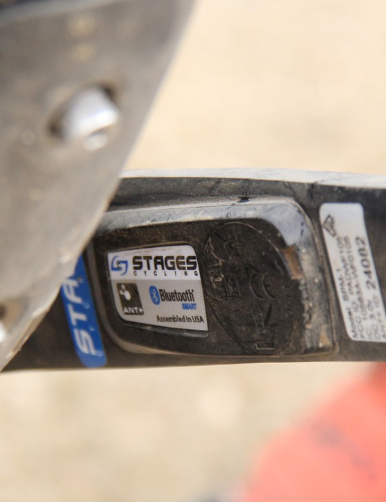 Graves uses a Stages power meter mounted to the non-drive crankarm