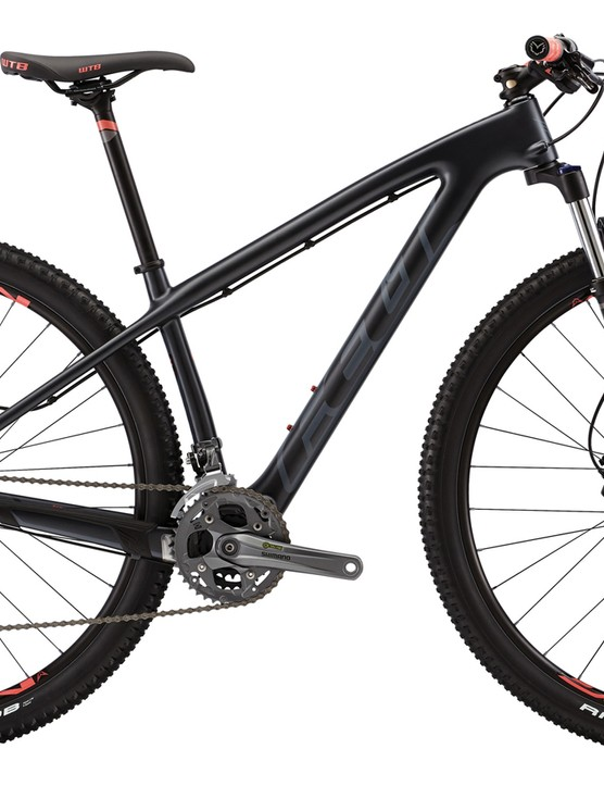 Felt also offers the Nine carbon hardtail in a women's version, molded with the same geometry but a specific build kit