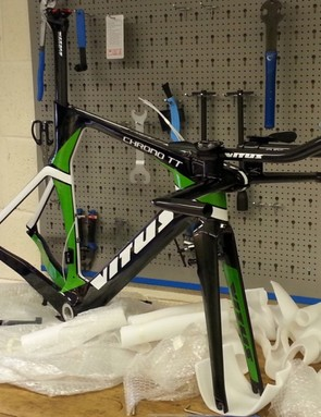 All in all, it's a nice-looking frame – the production models will have a red trim