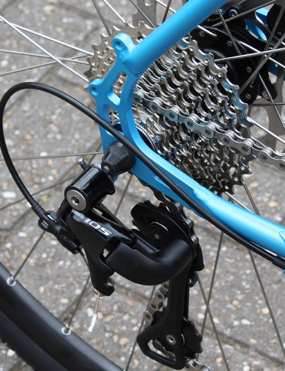 The latest generation Shimano 105 means 11 cogs at the rear
