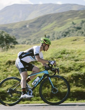 Our initial test of the new Giant Defy Advanced SL took place over two hilly - and remarkably sunny - days in the beautiful Scottish Highlands
