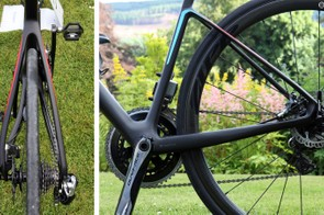 Note how the non-driveside seat stay is bowed out to allow tool access to the disc brake caliper. The chain stays don't appear incredibly tall in profile but they're quite wide and very noticeably stout under power. Chain stay length is 420mm