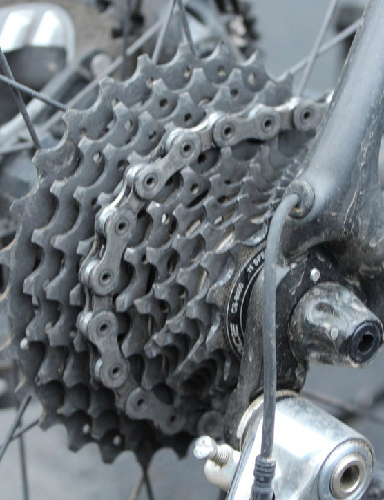 Every cog on Shimano's 11-28t cassette was used, especially the bigger ones...