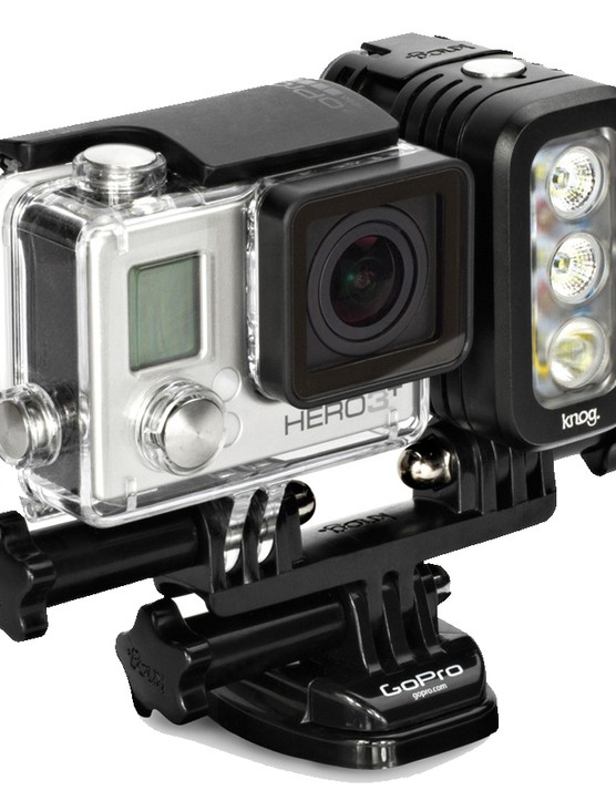 Knog [qudos] works with popular action cameras and can also be used on top of DSLR's or tripods