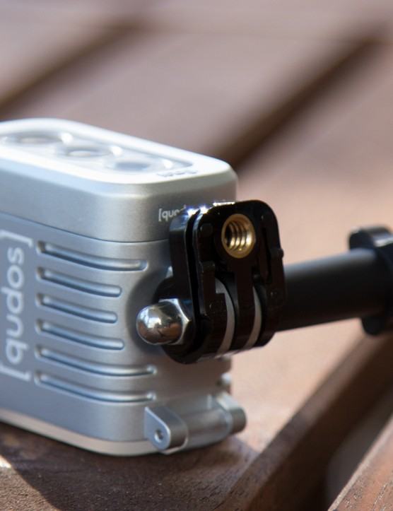 Pictured here is the qudos' 'Cold Shoe' DSLR camera mount + tripod mount